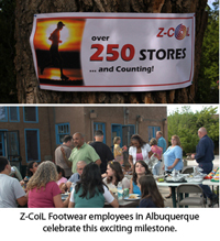 Z-CoiL Footwear employees celebrate this exciting milestone