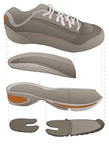 Bio-Trek footwear components