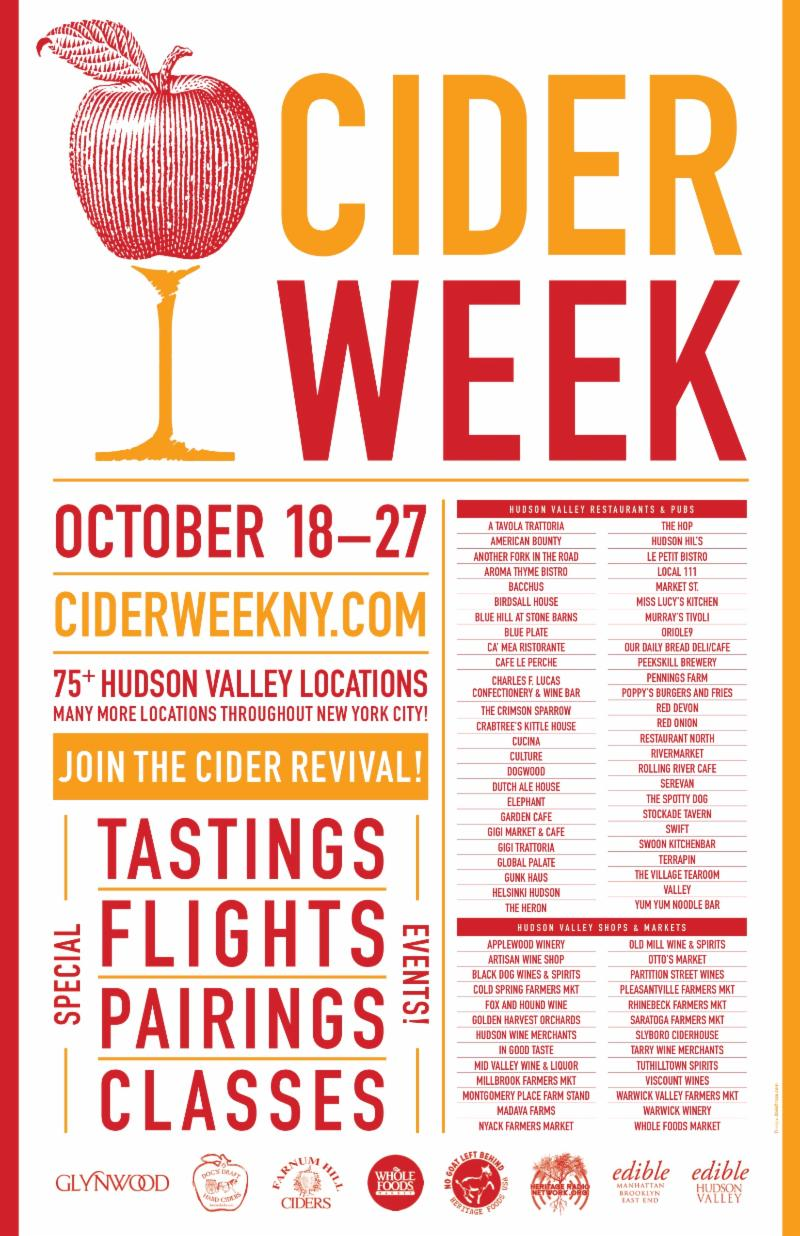 Cider Week NY October 18-27