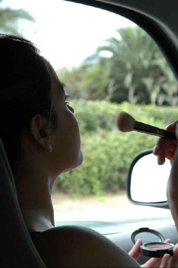 MakeUp in the Car-A No, No