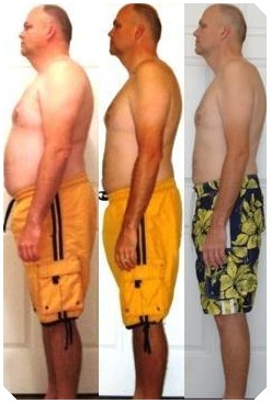 Before and after pic HCG Diet-male
