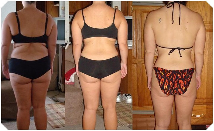 Before and after pic HCG Diet-female