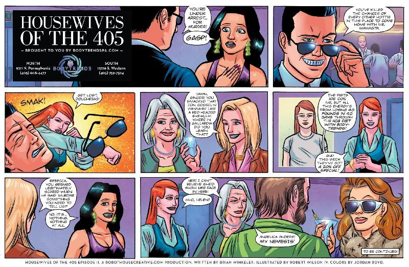 Housewives of The  405 cartoon