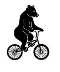 bear on bike wc