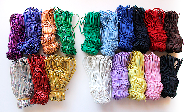 10-inch elastic stretch loops in 18 colors