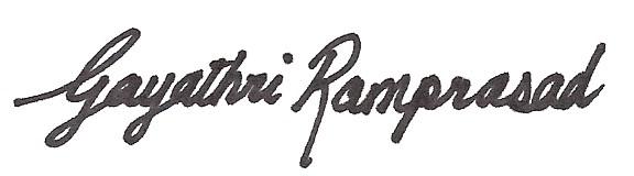 Gayathri Signature