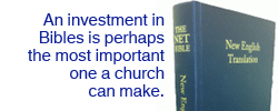 Investing in Bibles is perhaps the most important investment a church can make.