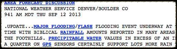National Weather Service reports