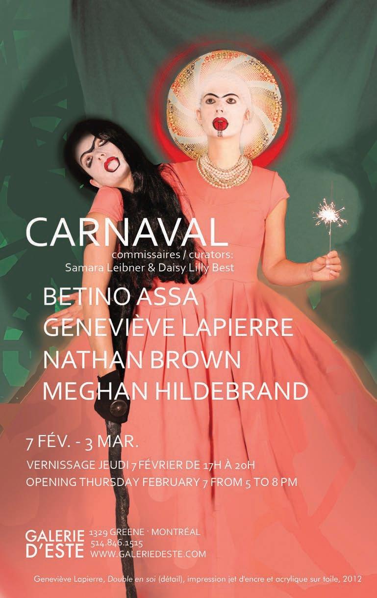 Galerie D'Este - Invitation Carnaval