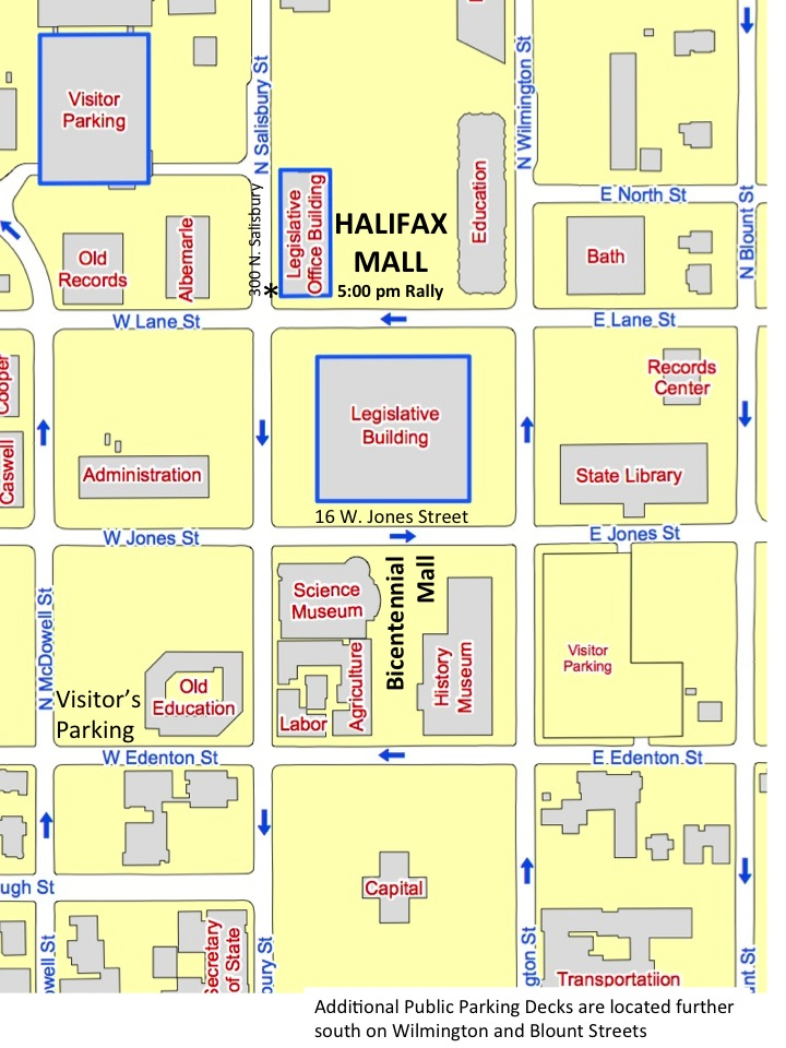 New Map for downtown Raleigh