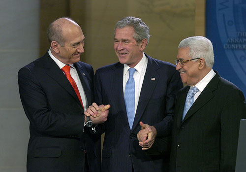Bush, Olmert, Abbas