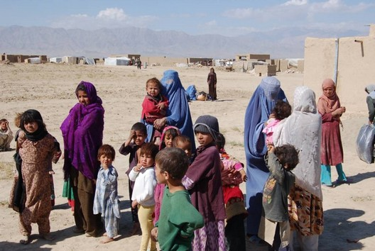 Afghan orphans and women