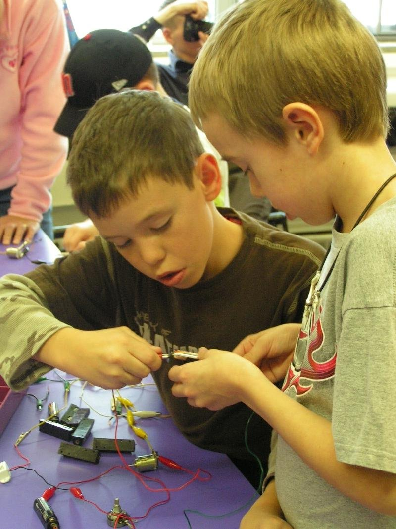 boys with circuits