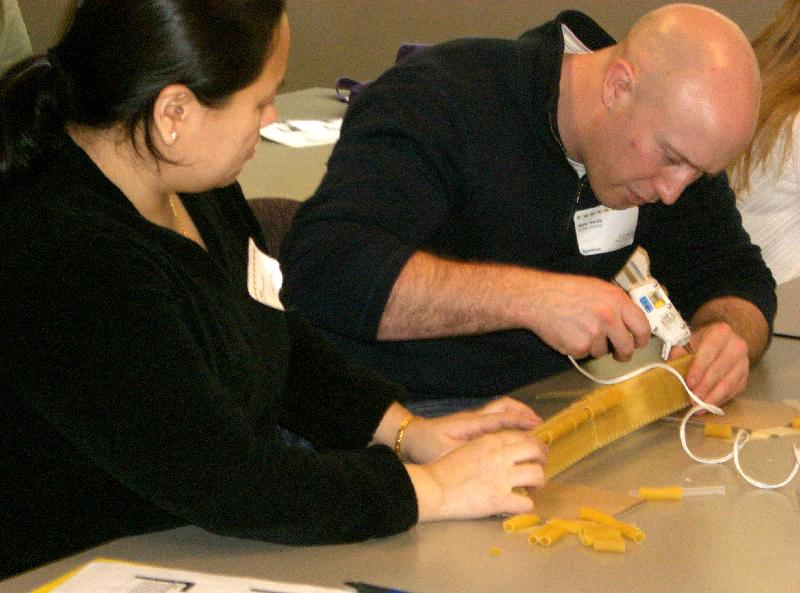 building a pasta bridge at E4