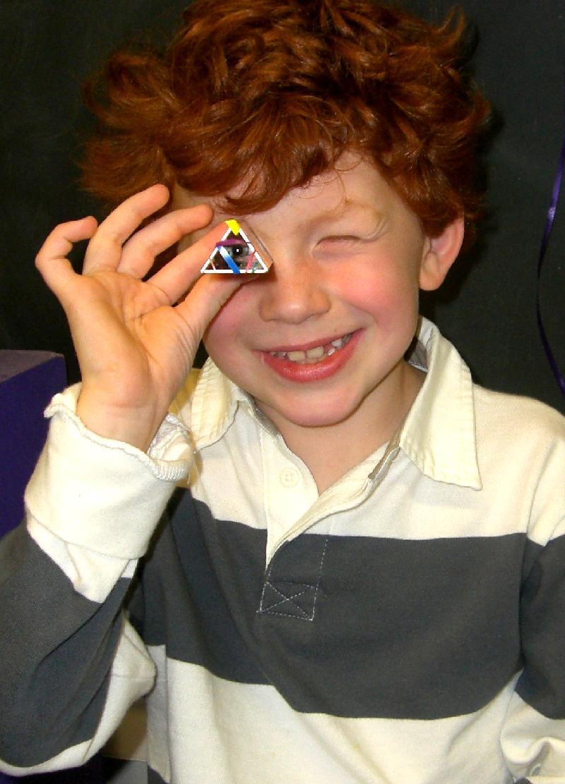 boy with kaleidoscope