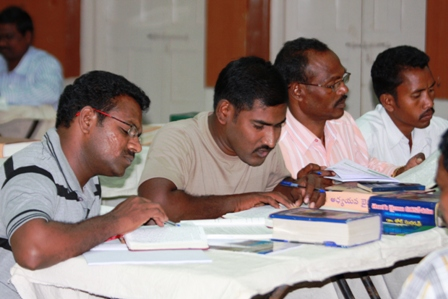 Indian pastors studying BTCP