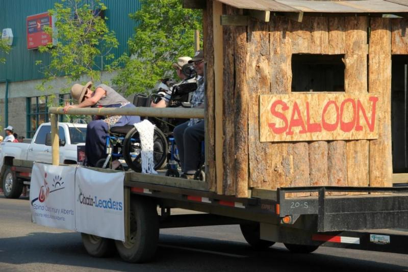 Grande Prairie Stompede Parade - Float to promote SCI Alberta and Chair-Leaders