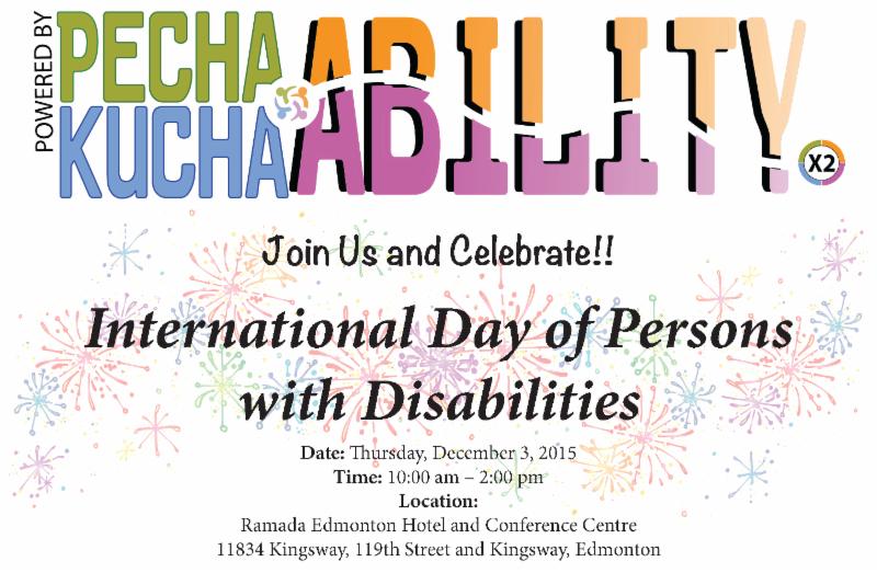 IDPD Edmonton Poster - PechaKucha Ability