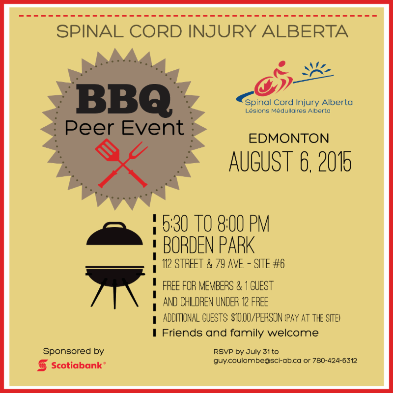 Edmonton Peer BBQ - August 6, 2015
