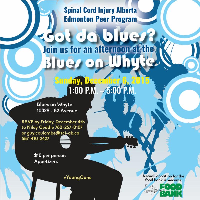 Invitation to Edmonton Peer Program Blues on Whyte event on December 6_ 2015