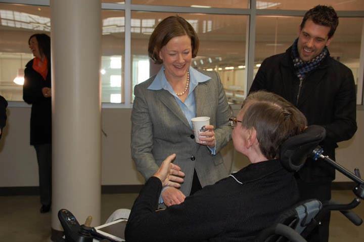 Premier Alison Redford visits EastLink Centre in Grande Prairie