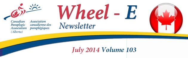 CPA (Alberta) Wheel-E Newsletter July 2014 Banner