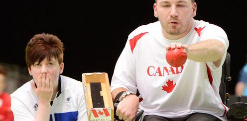 Team Canada Wheelchair Boccia Player