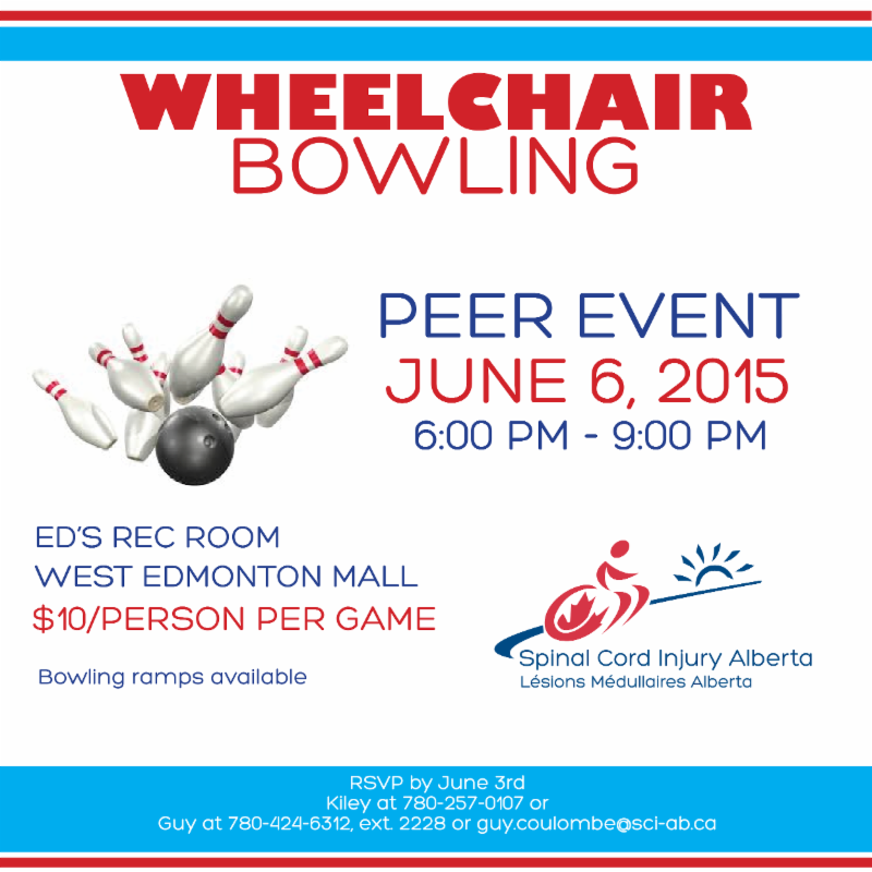 Wheelchair Bowling Event on June 6 2015