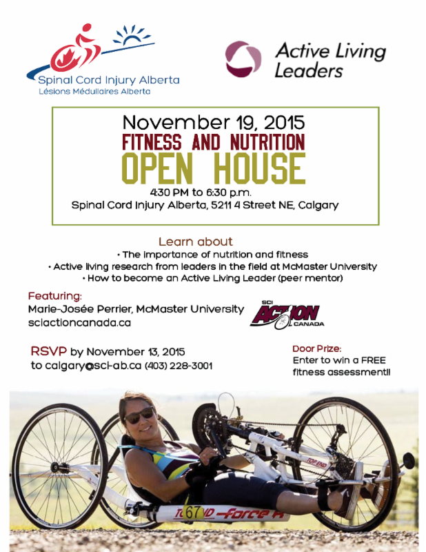 Fitness and Nutrition Open House on November 19 in Calgary
