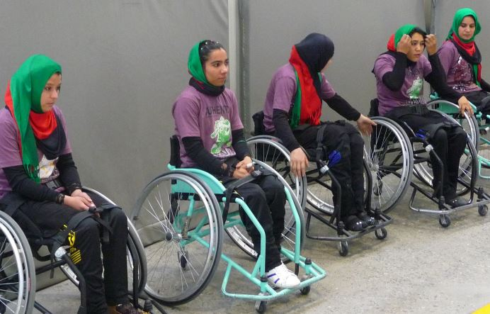 Picture of Women's Wheelchair Basketball Team in Afghanistan