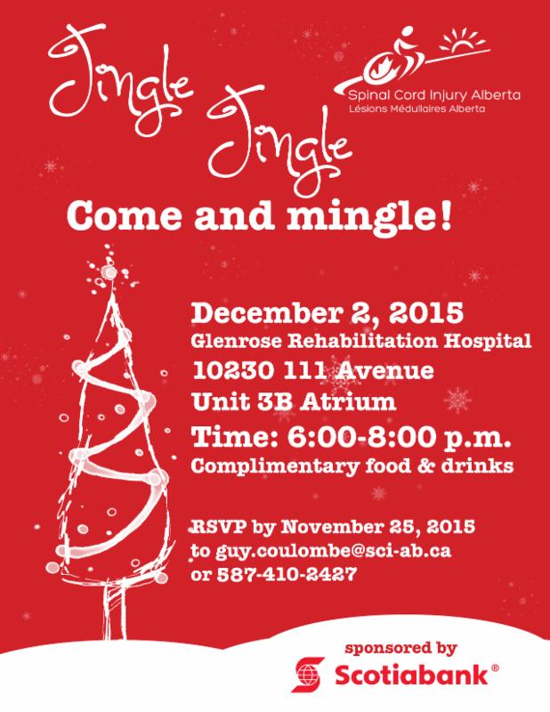 Invitation to Edmonton Peer Christmas event on December 2_ 2015