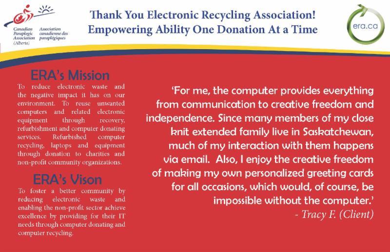 Thank you Electronic Recycling Association