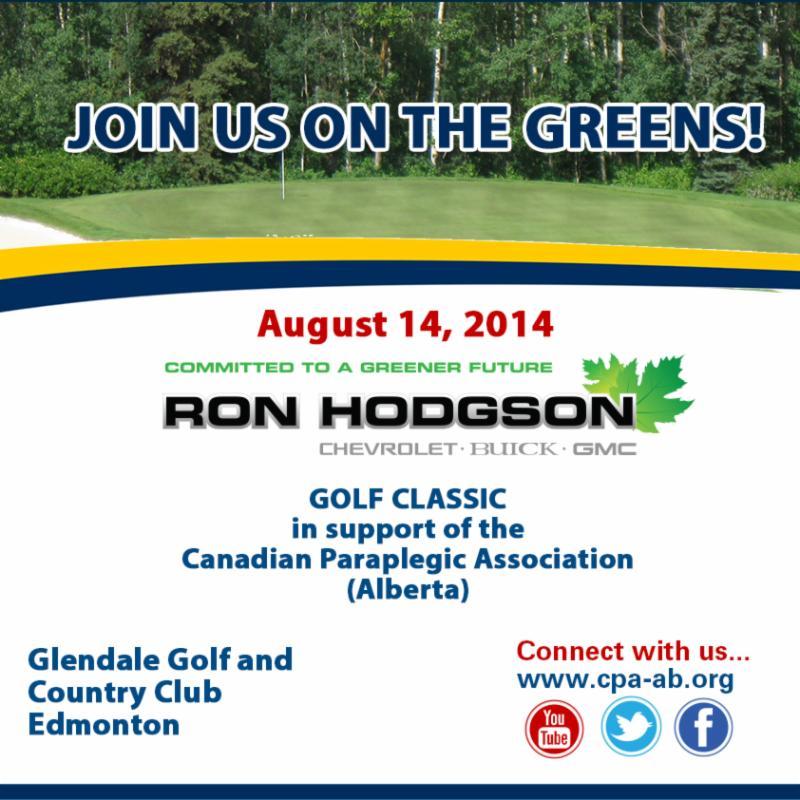 Ron Hodgson Chevrolet Buick GMC Golf Classic Invitation