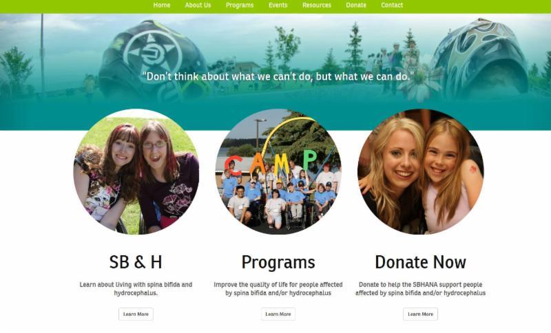 Spina Bifida Association of Northern Alberta Website