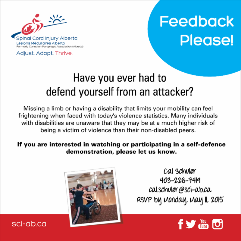 Self Defense Feedback Poster