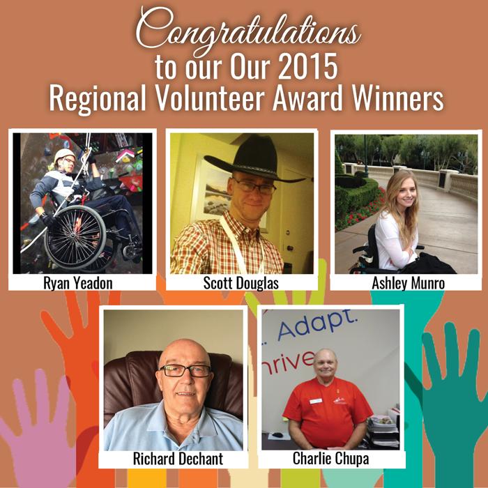 Regional Volunteer Award Winners