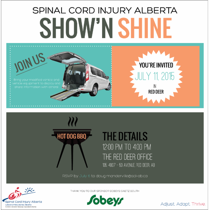Invitation to Red Deer Show'n Shine on July 11, 2015