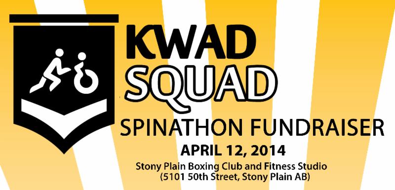 Kwadsquad Spinathon Fundraiser on April 12, 2014