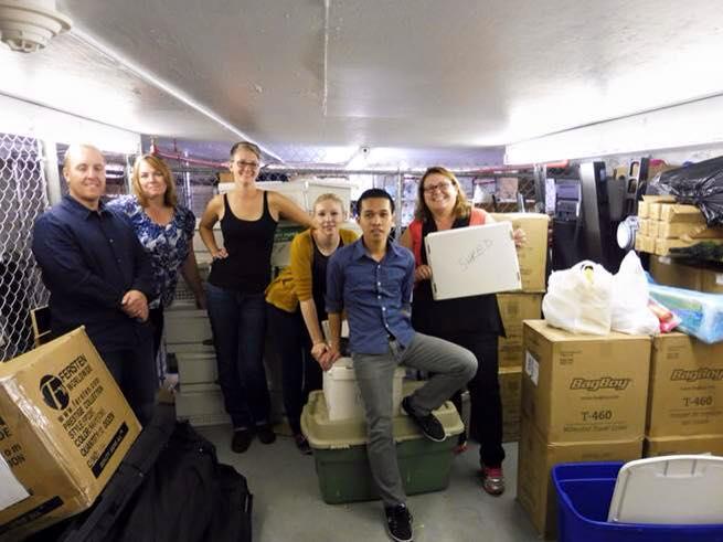 Edmonton Primary Care Network Cleaning up Storage in basement of SCI Alberta Edmonton