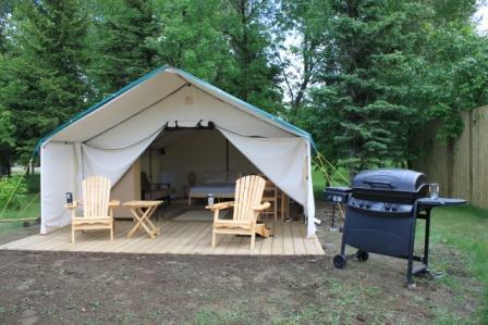 Image of Comfort Campit Site in Dinosaur Provincial Park