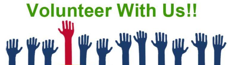 Volunteer hands up image