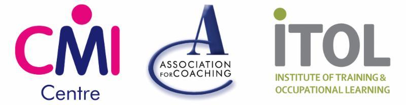 CMI Centre, Association for Coaching, ITOL logos