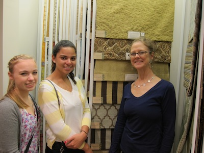 at the Kravet showroom in NYC
