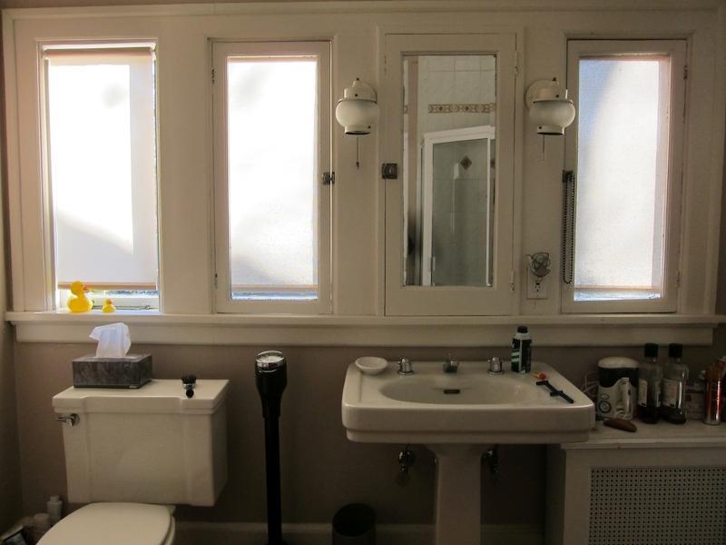 Hall bathroom design - before