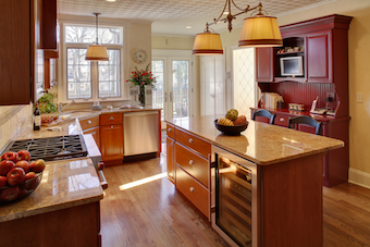 spice colored kitchen