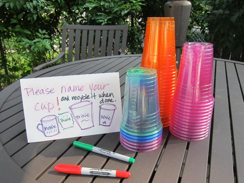 Name your cup to keep track of it!