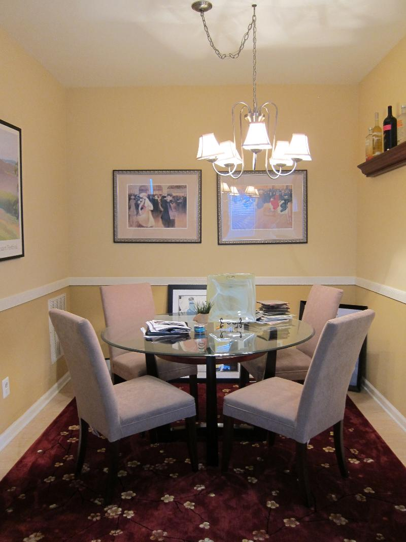Dining Room before design work by Tracey Stephens.