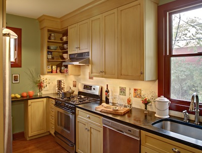 Brooklyn kitchen with eco-friendly cabinets