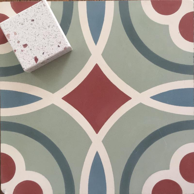 Cement tile, Zodiaq counter