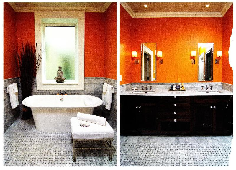 orange bath inspiration